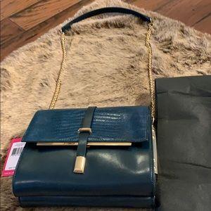 Vince Camuto handbag with lizard trim / NWT